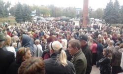 Голодный митинг в Антраците 22 сентября 2014